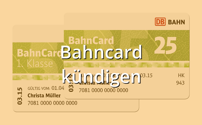 Kundigung Der Bahncard Was Man Wissen Muss Recht Finanzen