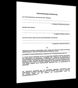 Geheimhaltungsvereinbarung Vorlage