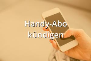 Abo Kündigen Handy