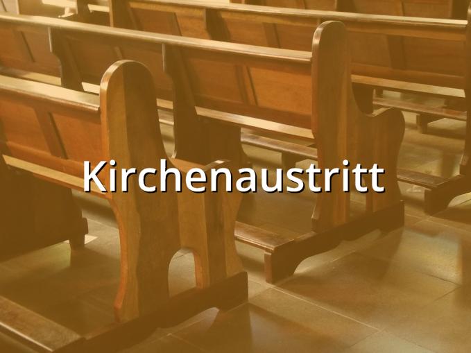 Kirchenaustritt Musterbrief