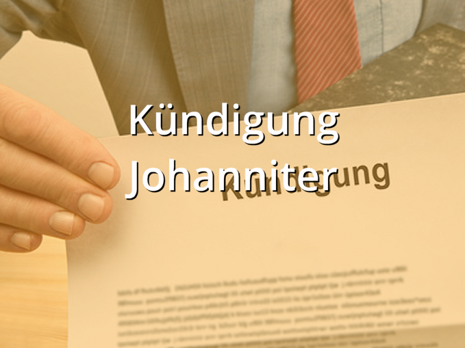 Kuendigung Johanniter Muster