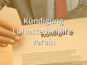 Kündigung Lohnsteuerhilfeverein