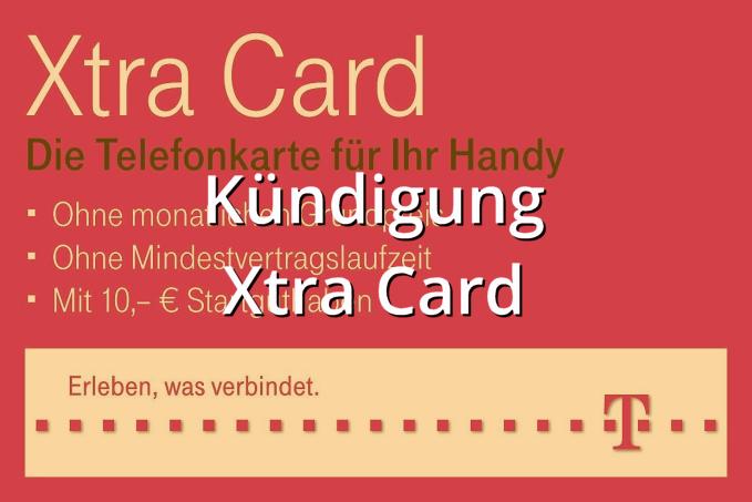 Kündigung Xtra Card Muster