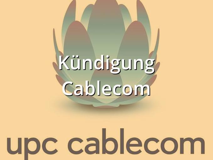 Musterbrief Cablecom Kündigung