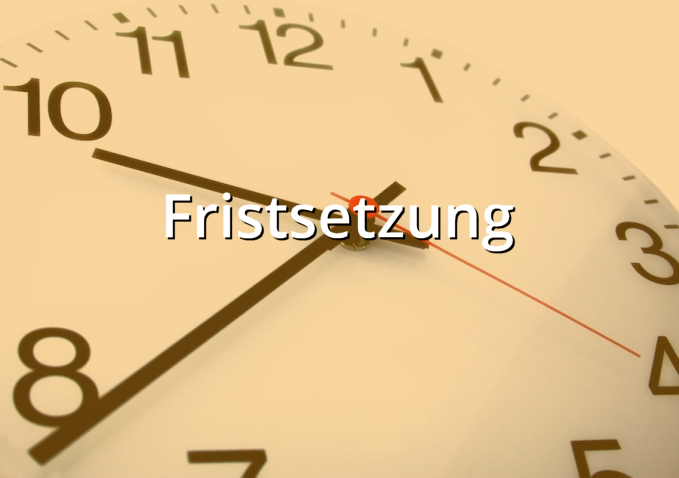 Musterbrief Fristsetzung Musterix