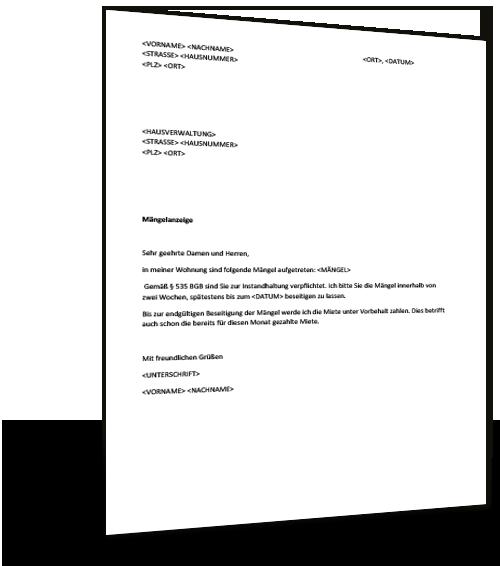 Musterbrief Hausverwaltung Musterix