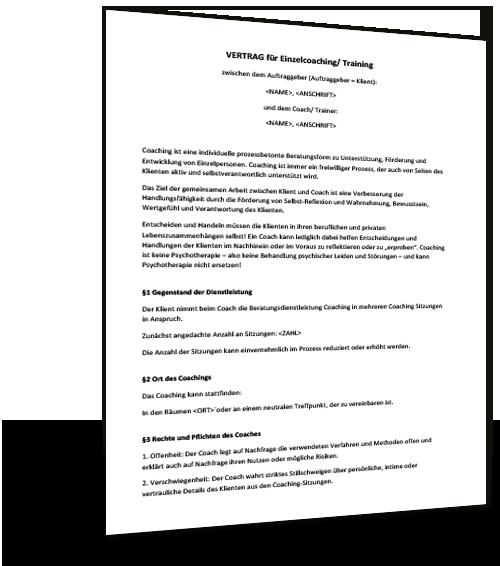 Mustervertrag Coaching - Musterix