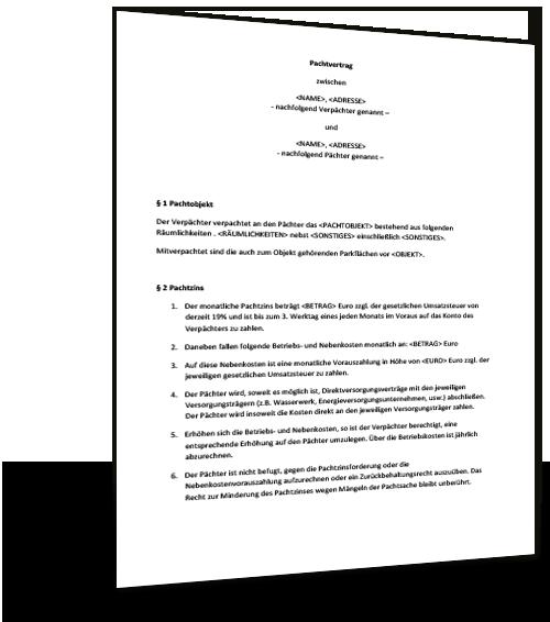 Landpachtvertrag Pachtvertrag Fur Landwirtschaftliche 10