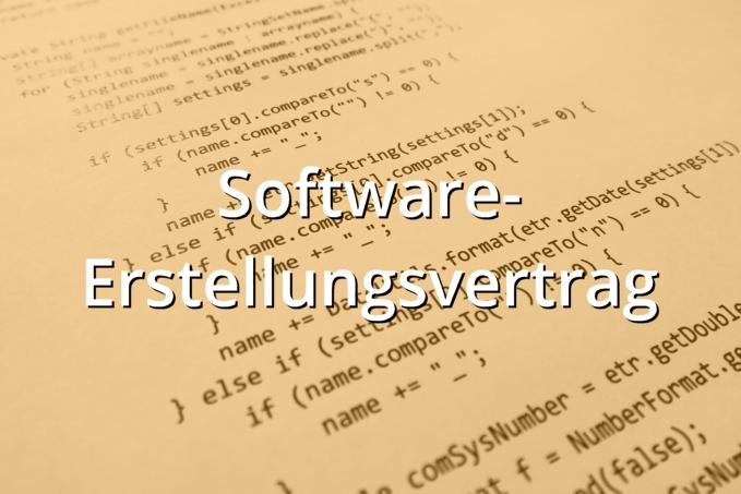 Software-Erstellungsvertrag Muster