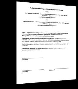 Reservierungsvereinbarung Immobilien Muster